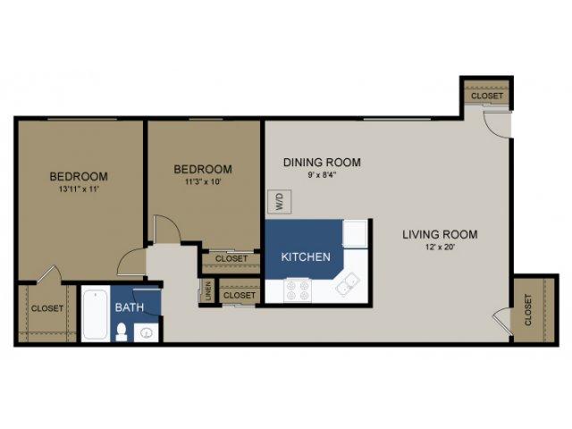 2 BEDROOM WASH/DRYER