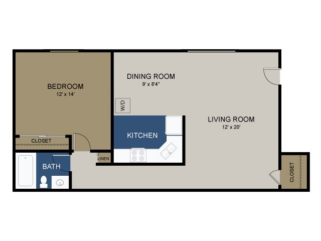 1 BEDROOM COURTYARD